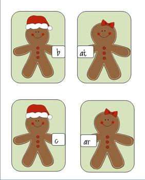 Gingerbread onsets and rimes word game