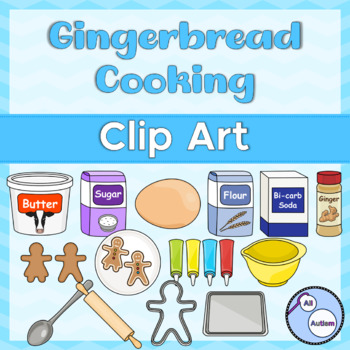 Gingerbread people cooking clipart