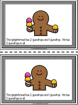Gingerbread Emergent Reader Book AND Addition Interactive Activities