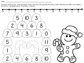 Gingerbread -themed Comparing Numbers Centers