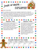 Gingerbread themed Newsletters: 3 Designs, all Editable!
