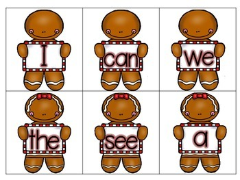 Gingerbread CRUNCH! Sight Word Game