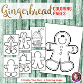 Christmas Gingerbread Coloring Sheets