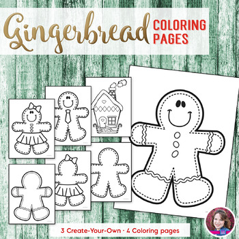 Christmas Gingerbread Coloring Sheets