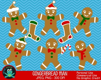 Gingerbread Man {Upzaz Digital Clipart}