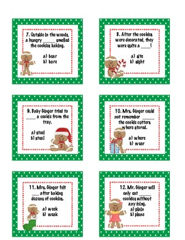 Gingerific Word Work: Gingerbread Themed Word Work