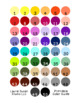 Gingham - 50 Color Border Set Series Bulletin Board Corners