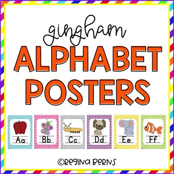 Gingham Alphabet Posters