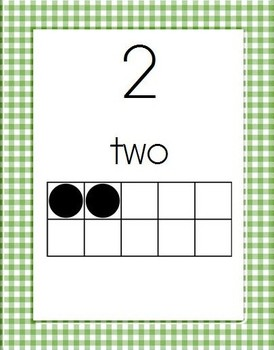 Gingham Alphabet and Number Posters