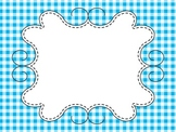 Gingham Backgrounds and Frames for Flipcharts and Activ Inspire