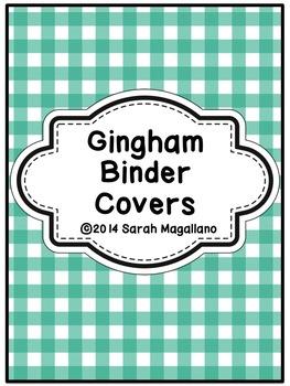 Teacher Binder Covers: Gingham