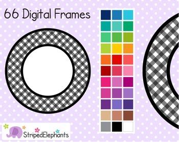 Gingham Circle Digital Frames