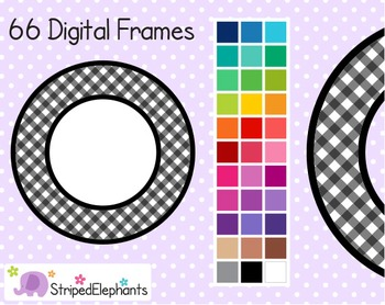 Gingham Circle Digital Frames