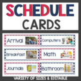 Gingham Classroom Decor Schedule Cards