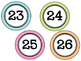 Gingham Classroom Numbers