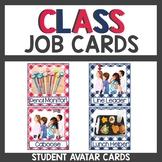 Gingham Classroom Themed Decor Job Cards