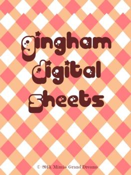 Gingham Digital Background Sheets
