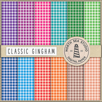 Gingham Digital Paper - Checked Backgrounds