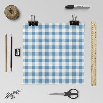 Gingham Digital Paper - Linen Texture