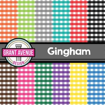 Gingham Digital Papers