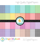 Bright Gingham Digital Papers