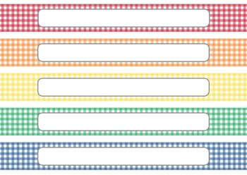 gingham editable classroom binder spine inserts 12 covers tpt