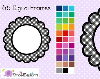 Gingham Flower Digital Frames