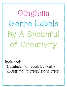 Gingham Genre Labels