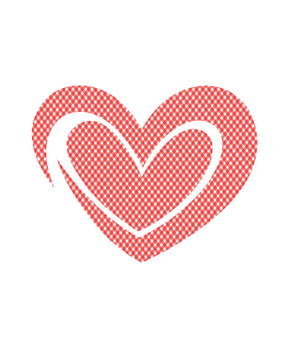 Gingham Hearts Clip Art