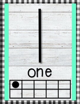 Gingham Number Posters 1-20