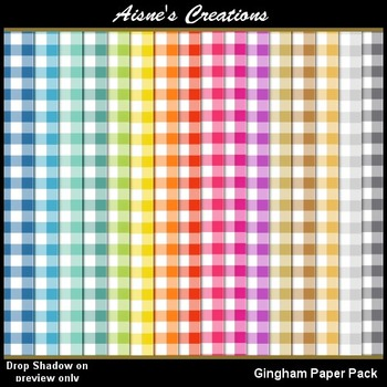 Gingham Paper Pack