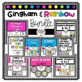 Gingham & Rainbow Decor Bundle