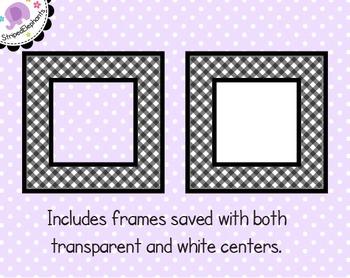 Gingham Square Digital Frames