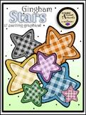Gingham Stars Clipart