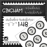 Farmhouse Shiplap and Gingham Student Numbers
