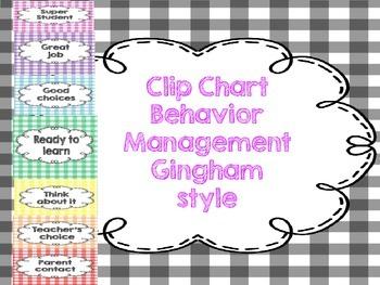 Gingham Style Behavior Clip Chart