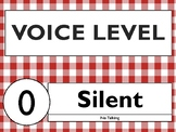 Gingham Voice Level / Noise Level Posters 0-5