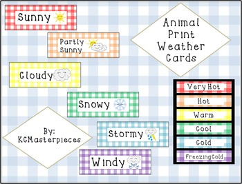 Gingham Weather Cards