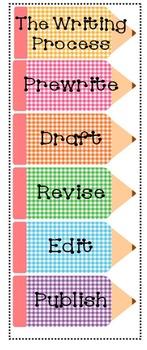 Gingham Writing Process Pencil Bundle