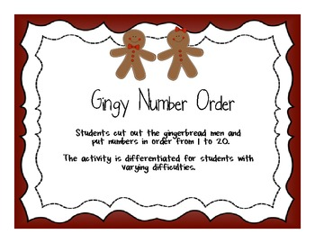 Gingy Number Order Freebie