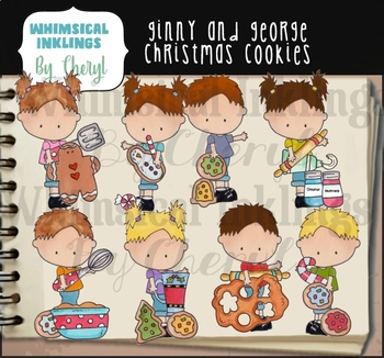 Ginny and George Christmas Cookies Clipart Collection