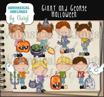 Ginny and George Halloween Clipart Collection