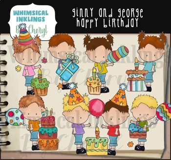 Ginny and George Happy Birthday Clipart Collection