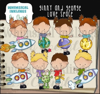 Ginny and George Love Space Clipart Collection