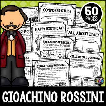 Gioachino Rossini, Classical Composer Music Unit Study, February Birthday