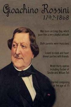 Gioachino Rossini printable poster