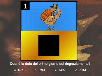 Gioco dei riquadri--thanksgiving squares game