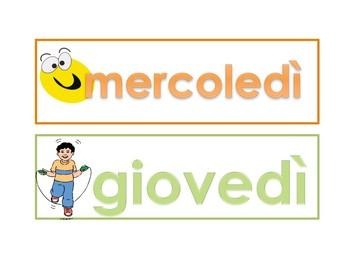 Giorni della settimana in Italiano - Days of the week in Italian