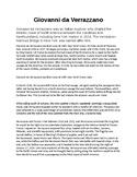 Giovanni da Verrazano Biography and Reading Comprehension