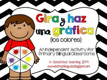 gira y haz una gráfica los colores by graciefacelearning tpt